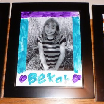 Finger-painted Photo Mats