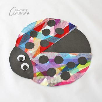 The kids will love this colorful paper plate ladybug, it's so much fun!