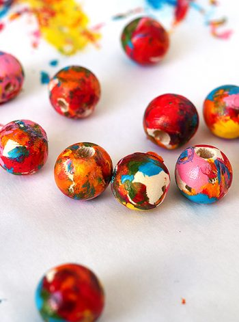 Colorful Wood Beads