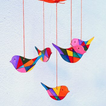 Wooden Birds Mobile