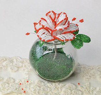 Seed Beads Flower Vase
