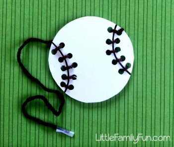 This baseball-themed lacing craft is excellent for fine motor development.