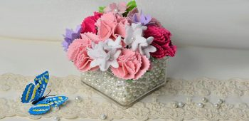 How to Make a Felt Carnation Flower Bouquet for Mother's Day