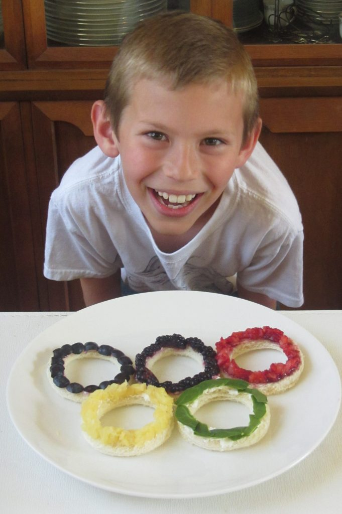 Have an Olympics-inspired lunch or healthy snack.