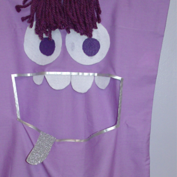 No-Sew Monster Laundry Bag