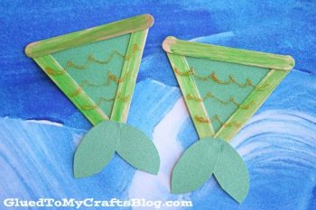 Turn popsicle sticks into adorable mermaid tails!