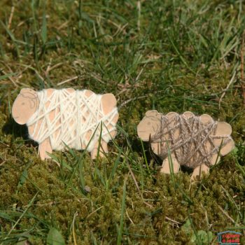 Yarn-Wrapped Lambs
