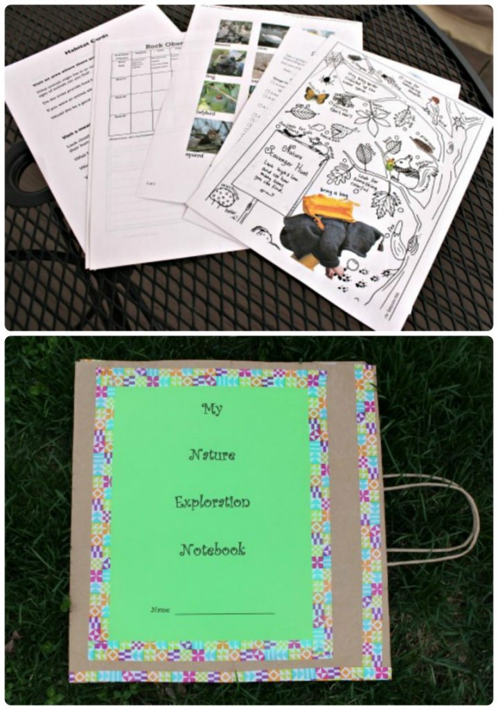 Create your own nature journal from a paper bag and choose from 40+ free printable nature activities!