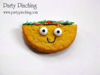 Make these adorable taco-inspired cookies for your next fiesta!