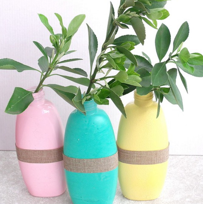 Recycled vase craft fun family crafts for Plastic bottle vase craft