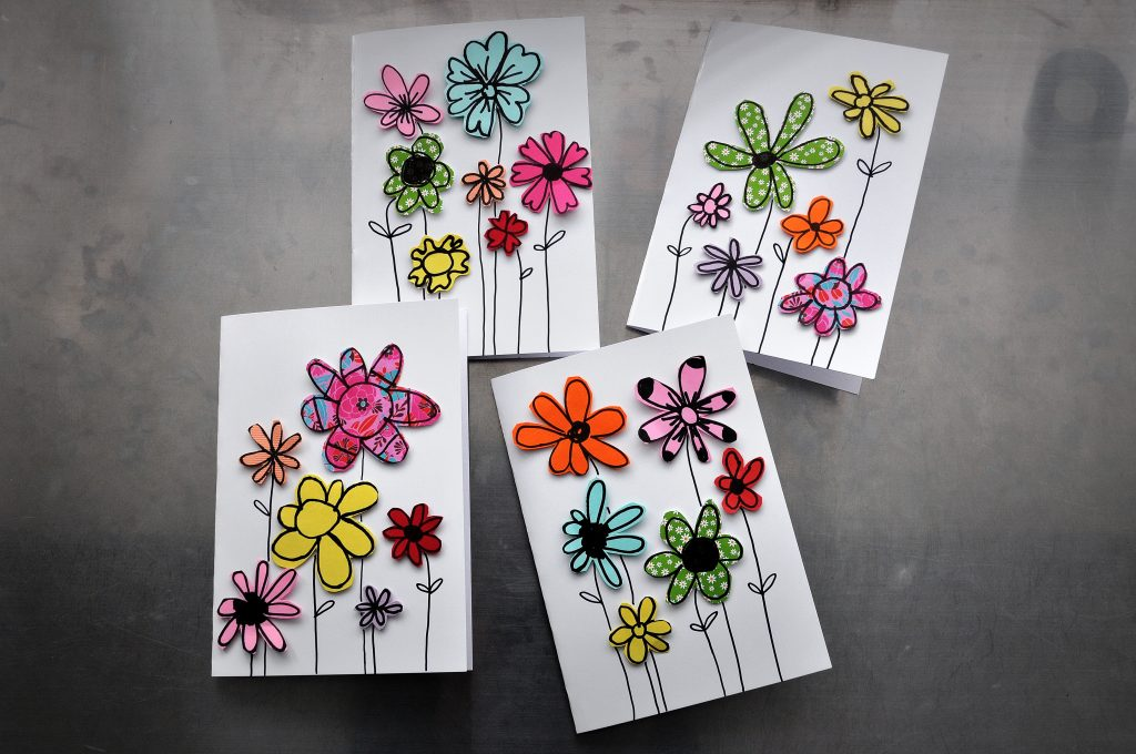 Paper Scraps Greeting Cards | Fun Family Crafts