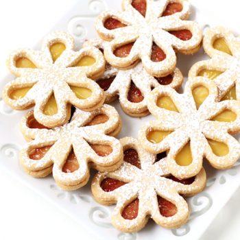 Linzer Cookie Daisies