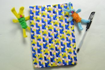 How to Make a Handmade Blue Ribbon Notebook Cover at Home