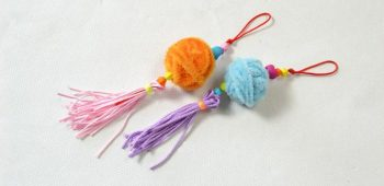Fun Family Crafts – Easy Chenille Stems Ball Hanging Ornaments