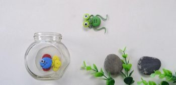 How to Make Cute Frog and Fish Made from Acrylic and Wooden Buttons