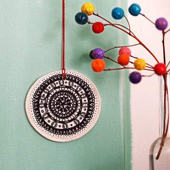 Clay mandala hanging