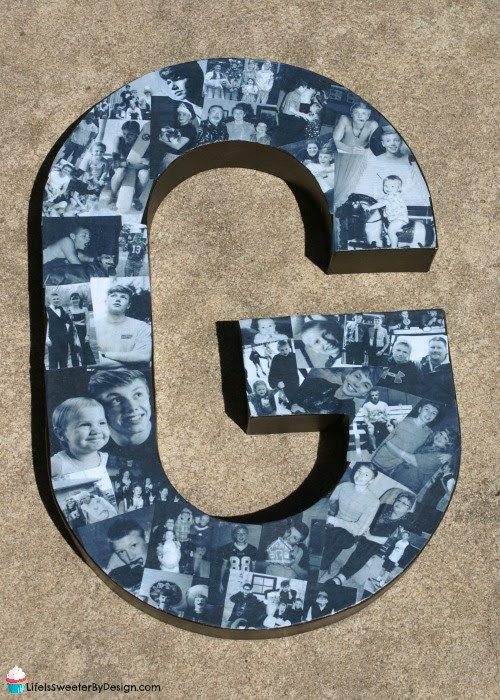 Easy to Make Personalized DIY Paper Mache Photo Letters