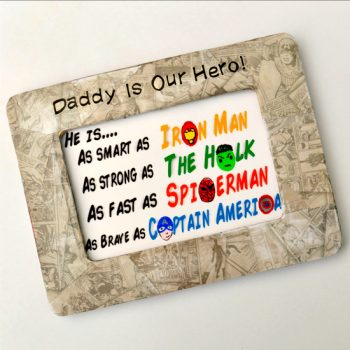 This personalized superhero art is perfect for any special guy in your life!