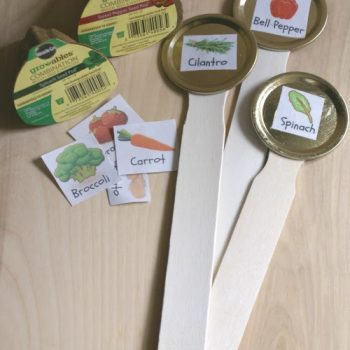 Canning Lid Garden Markers