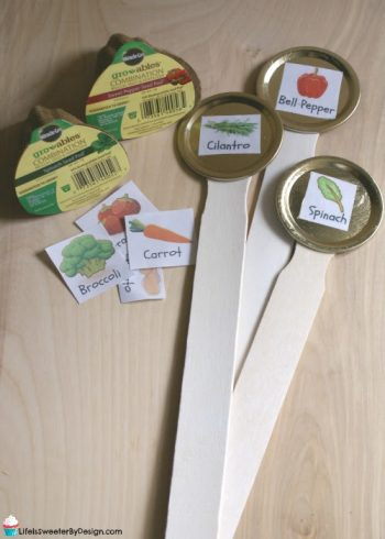 DIY Garden Marker Stakes will keep your garden organized!  These are simple for kids to make and you can grab some free printables to make it even easier!