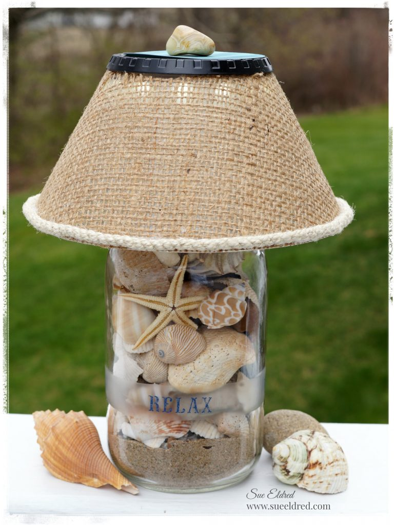 A fun way to use all those seashells collected on fun family vacations.