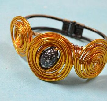Wire-Wrapped Bangle Bracelet