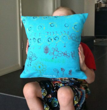 Cushions ~ painted and sewn by kids. A fun craft activity that produces an item that can actually be used ~ Threading My Way