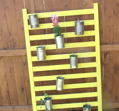 Crib Rails Turned DIY Vertical Planter