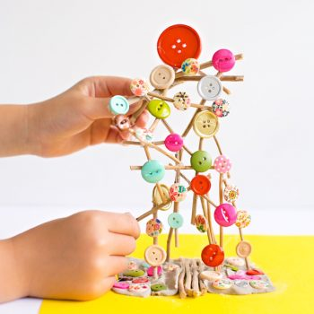 Button Stick Sculpture