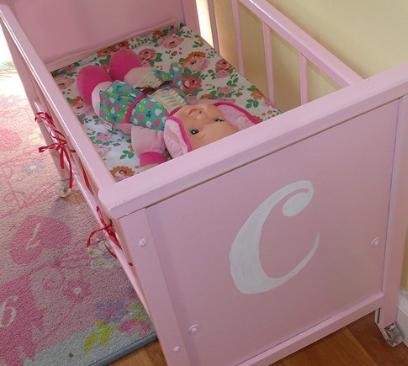 Doll Crib Makeover