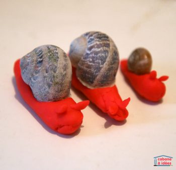 Snails in playdough