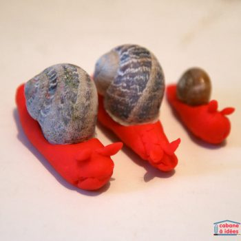Playdough Snails