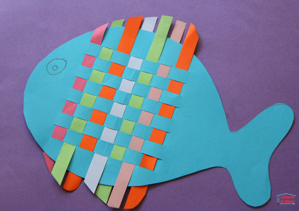 Woven Paper Fish Fun Family Crafts