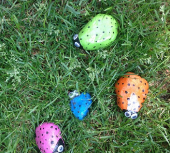 Painted Stone Bugs