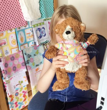 Sewing with Kids - make a top for a teddy bear ~ Threading My Way