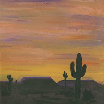 Sunset Desert Painting