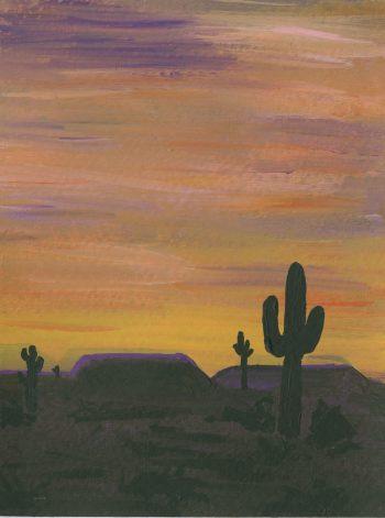 Sunset Desert Painting
