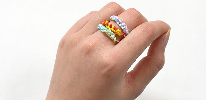 How to Make Easy Aluminum Wire Ring with Colorful Nylon Threads