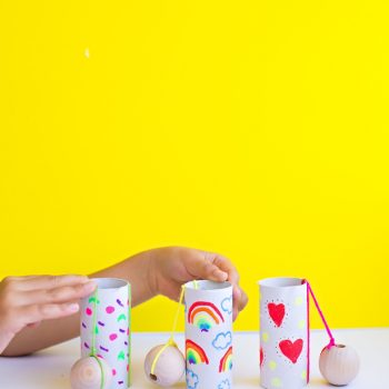 Paper Tube Ball and Cup Toy