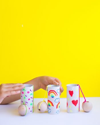 DIY Recycled Paper Tube Ball and Cup Toy