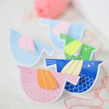 Printable Paper Bird Mobile