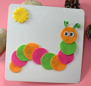 Felt Caterpillar Card