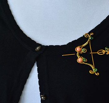 Bow and Arrow Brooch