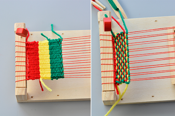 Instructions on How to Make Knitting Patterns for Kids with Wood Knitting Loom
