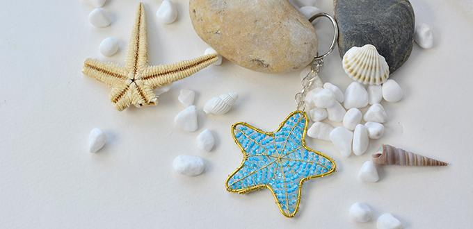 Easy Pandahall Tutorial on How to Make a Wire Star Key Chain Ornament
