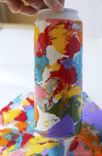 Aluminium can vase