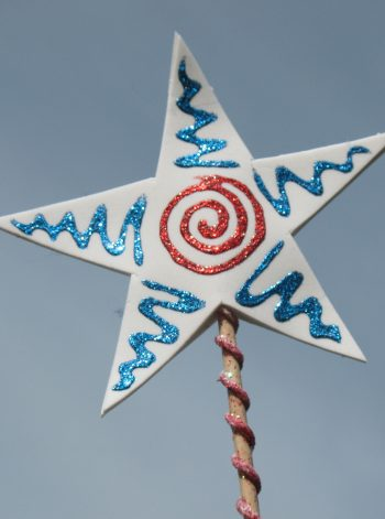 Red, White and Blue Star Wand