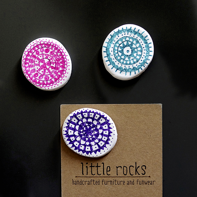 Mandala clay magnets