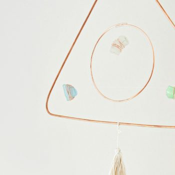 DIY Modern Mobile with Sea Glass and Copper