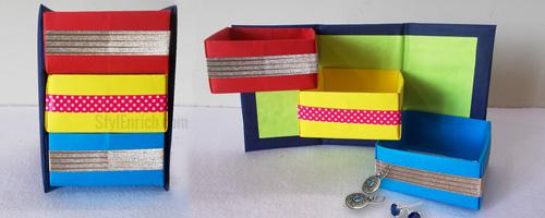 DIY Origami 3 Box Organizer